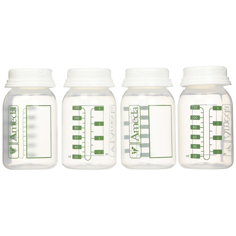 Ameda Breast Milk Storage Bottles ...  sc 1 st  Neb Medical & Ameda Breast Milk Storage Bottles (4 pack) - Neb Medical